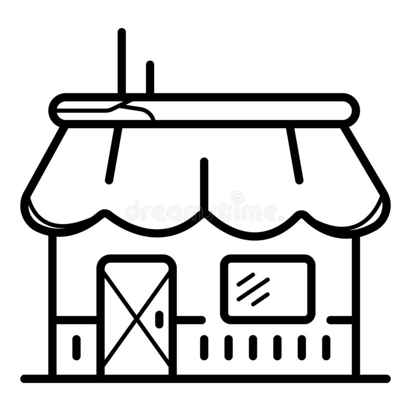 Store icon vector royalty free illustration