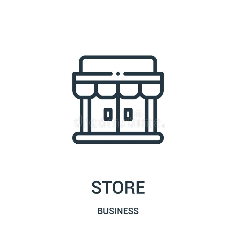 store icon vector from business collection. Thin line store outline icon vector illustration. Linear symbol stock illustration