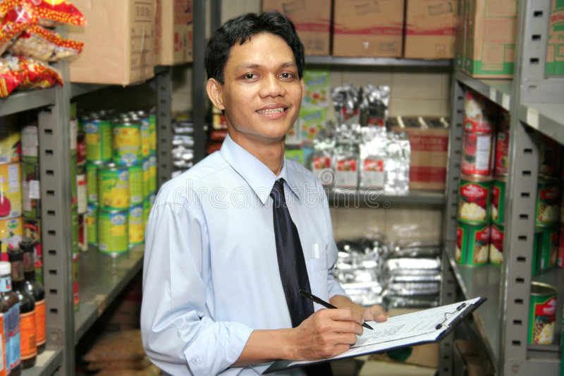 Store keeper stock image