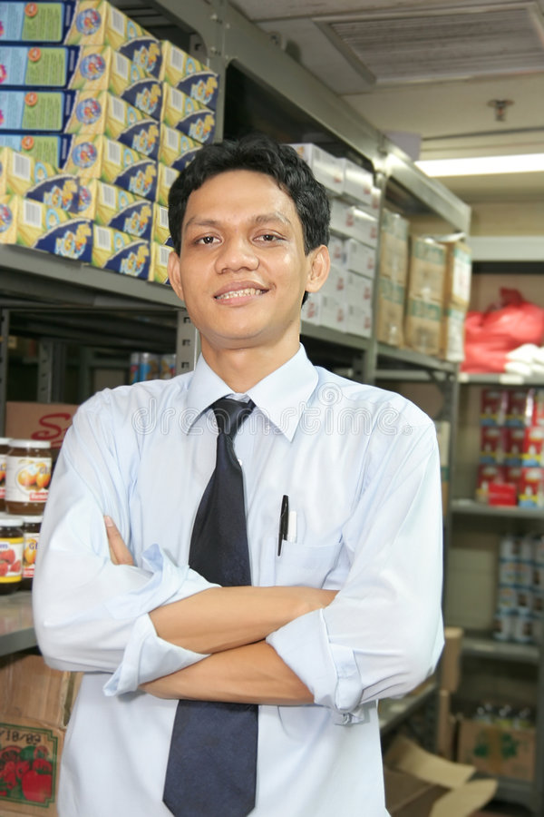 Store keeper stock photography
