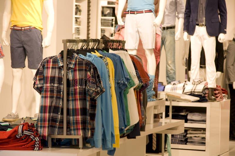 Man fashion clothing store stock photography