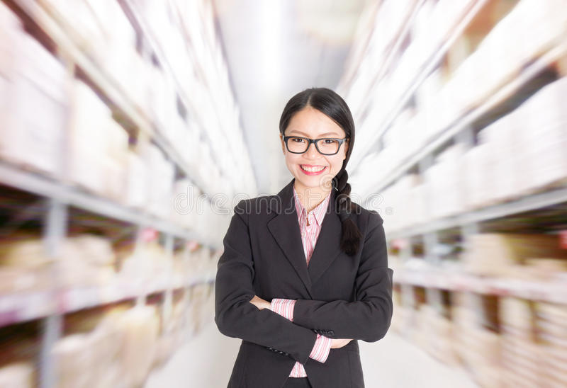 Store manager in storehouse royalty free stock images
