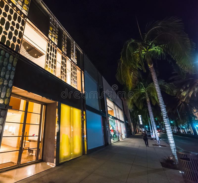 Store in Rodeo Drive. California stock image