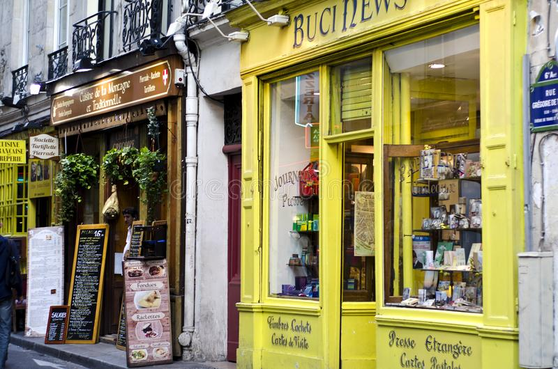 News store in Paris, France royalty free stock photos
