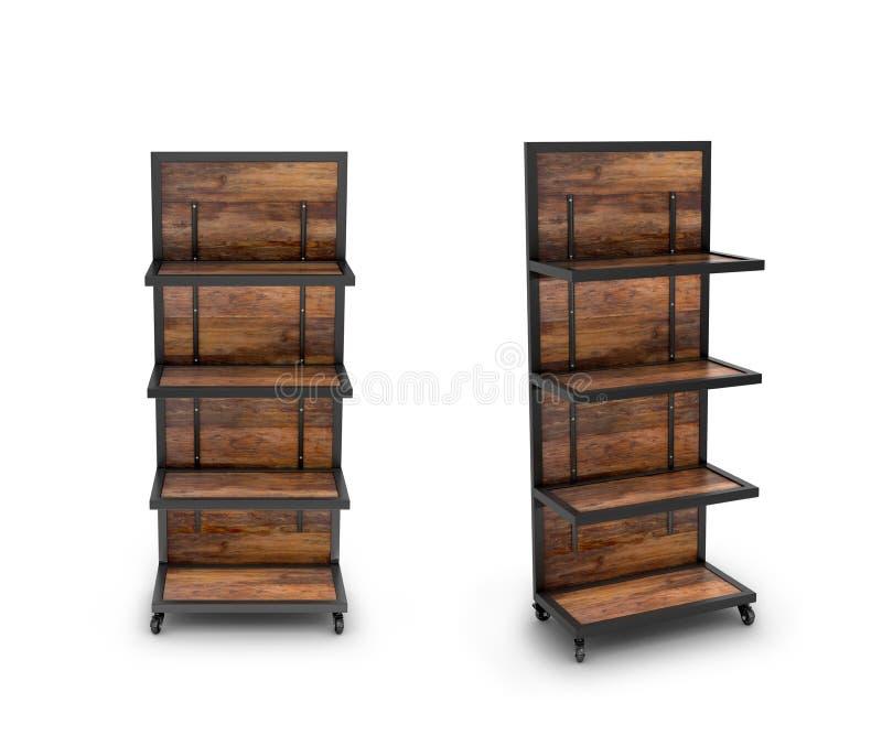 Store shelves for goods. 3D illustration vector illustration
