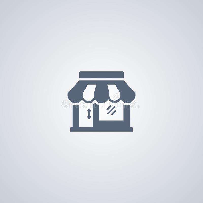 Store, shop, vector best flat icon royalty free illustration