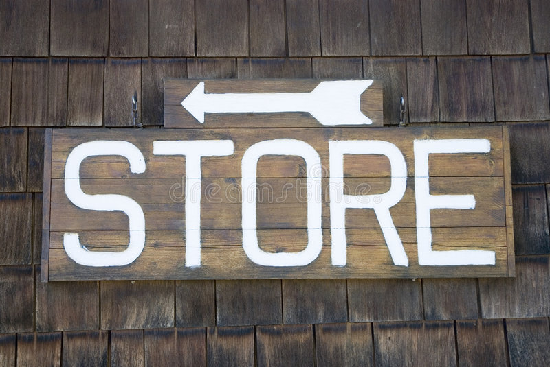 Store sign stock photography