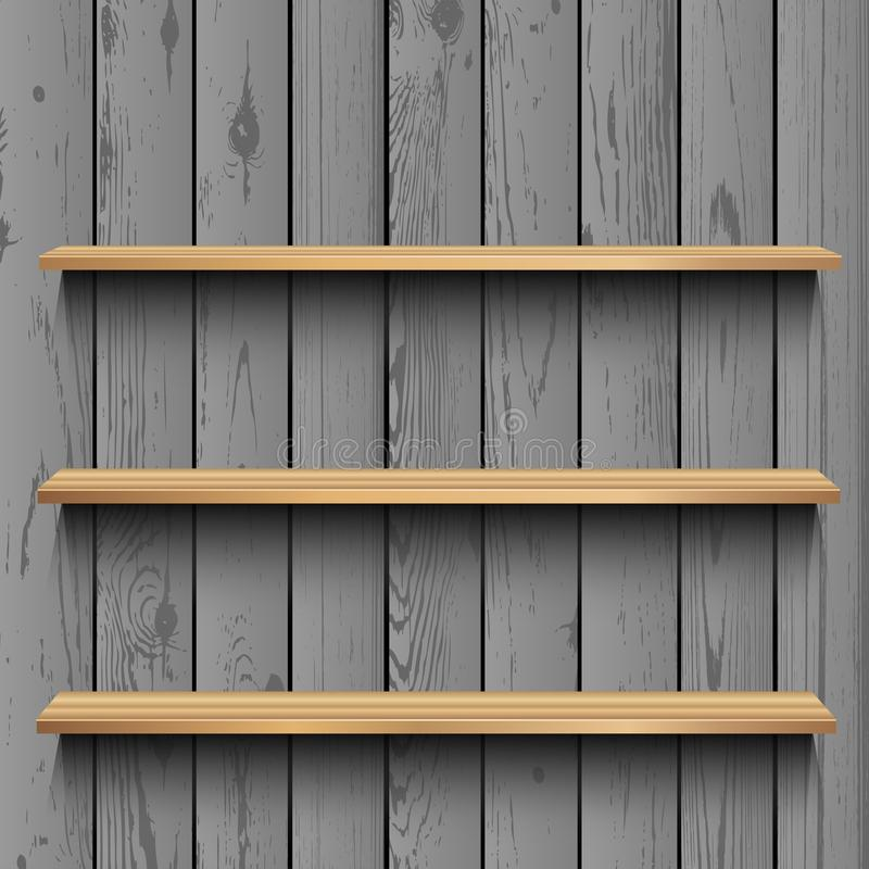 Store wooden showcase template vector illustration