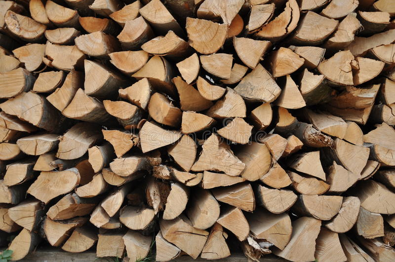 Stored Hard Wood Cut Stock Image