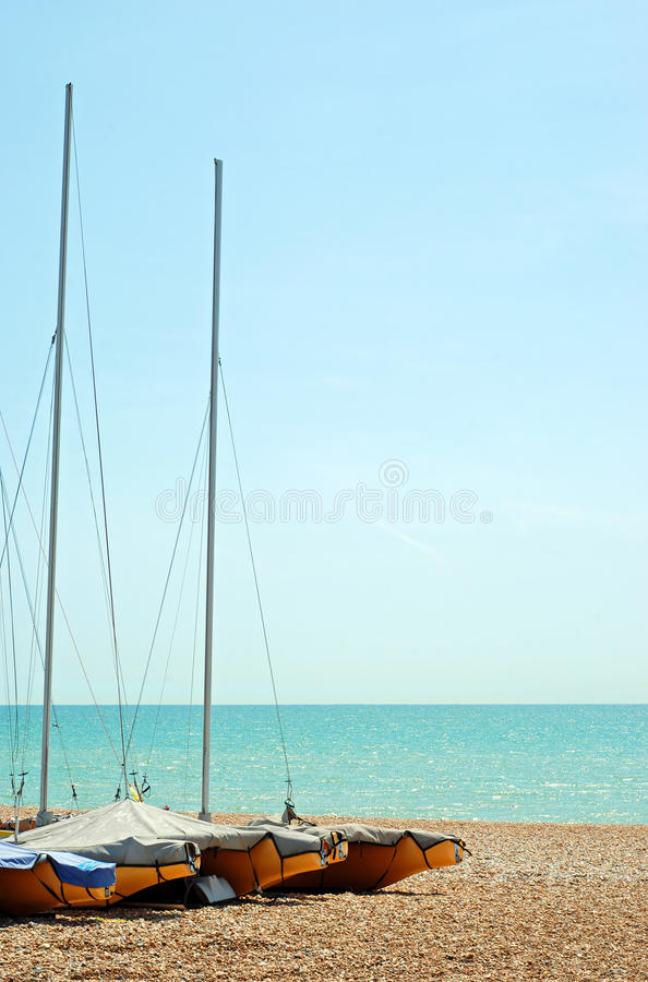 Free Stored Sailboats On The Beach Royalty Free Stock Image - 20126706