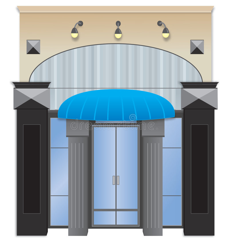 Storefront stock illustratie