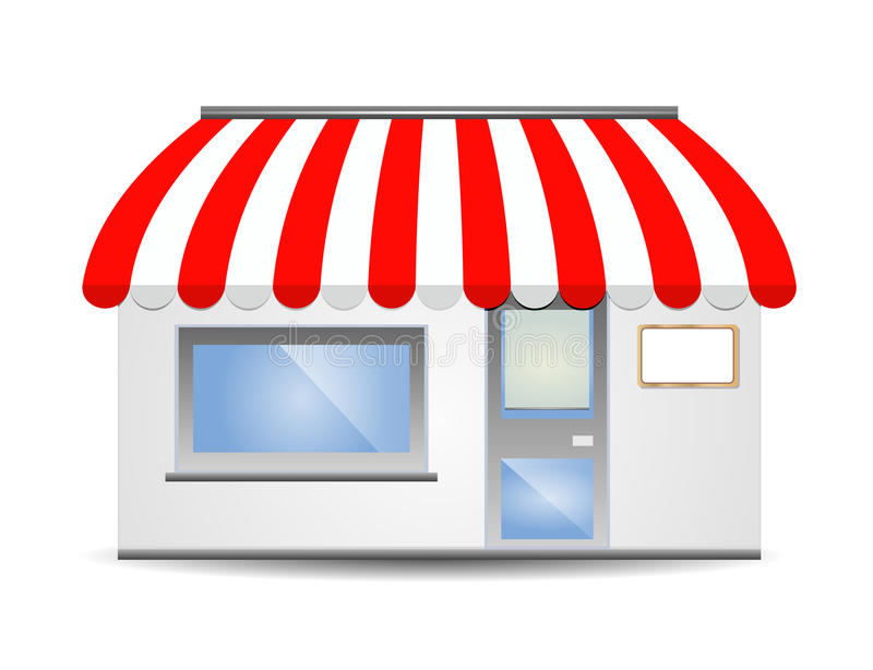 Storefront Awning in red vector illustration