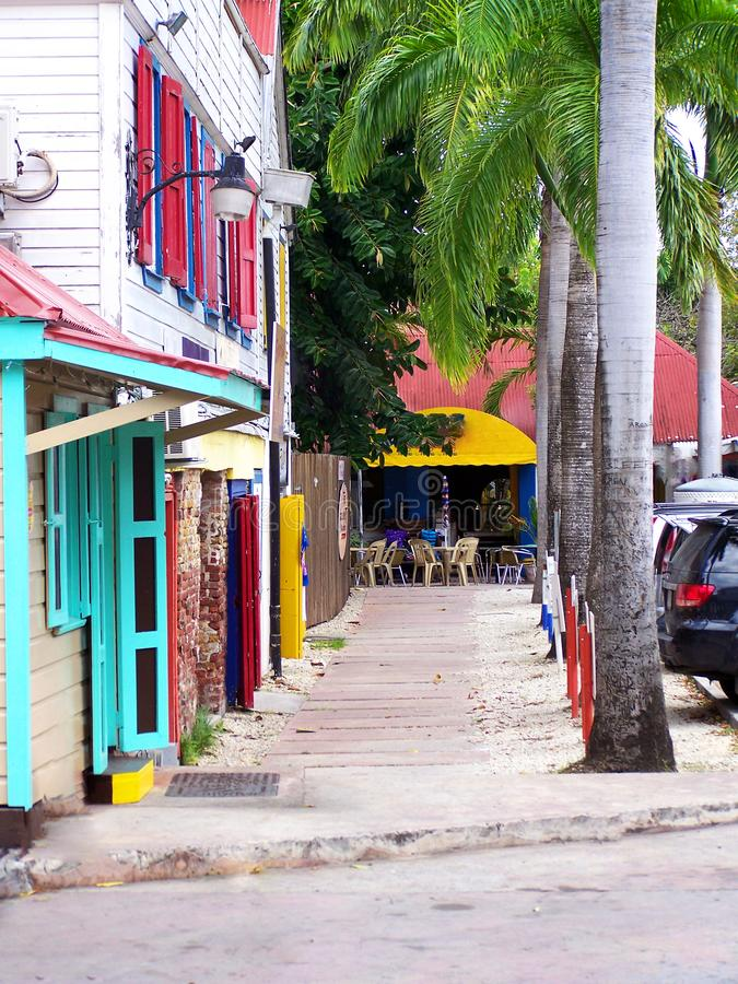Storefront in Caribbeans stock foto