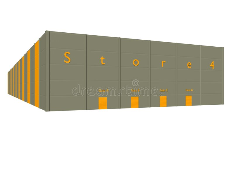 Download Storehouse stock illustration. Image of moving, security - 4792362