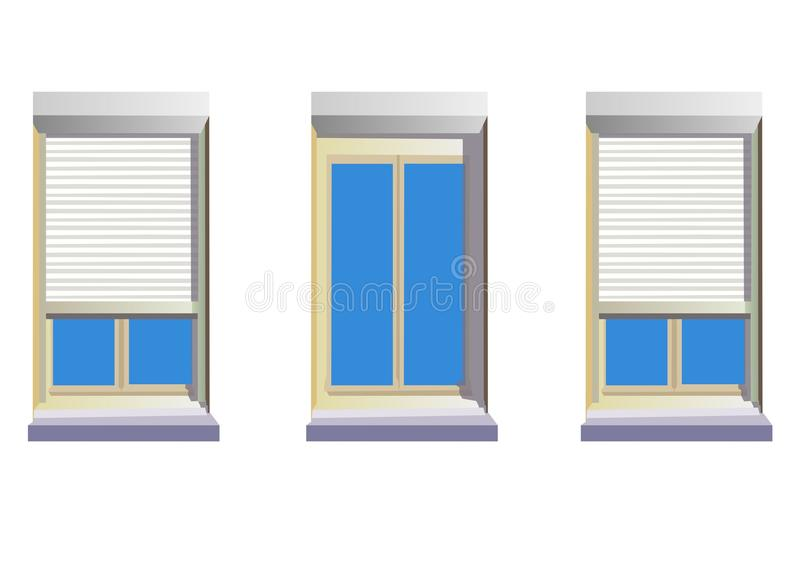 Download Stores stock illustration. Illustration of stores, shutters - 21612553