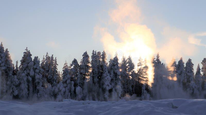 Storforsen σε ένα μυθικό χειμερινό τοπίο στοκ φωτογραφίες με δικαίωμα ελεύθερης χρήσης