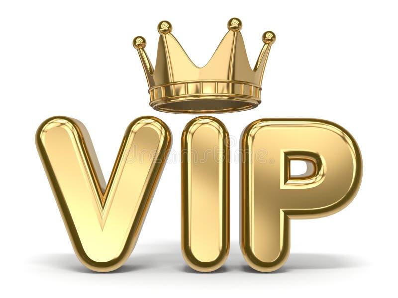 storgubbetext med den guld- kronan 3D royaltyfri illustrationer