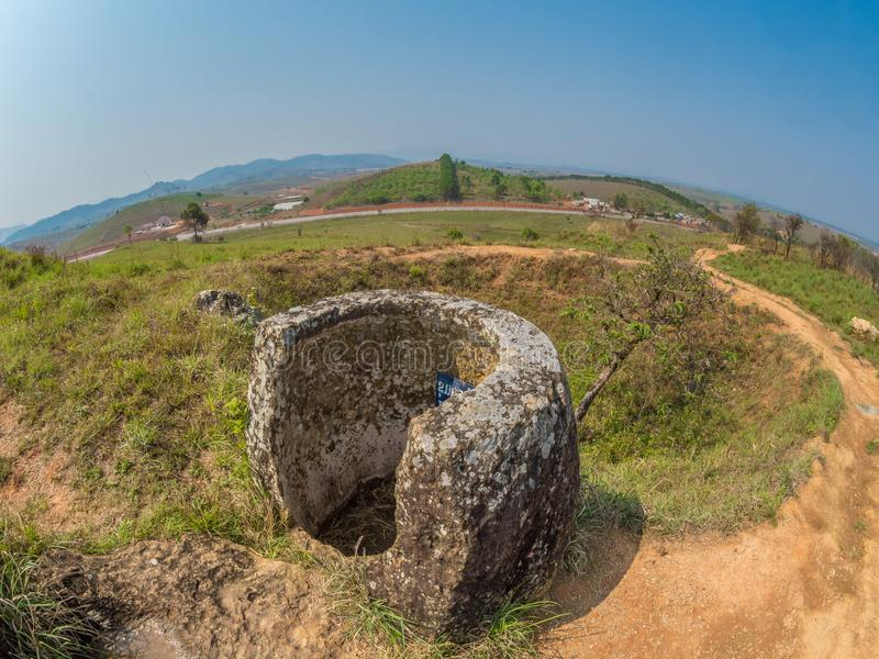 Storia antica e recente, parallelamente Plain dei vasi Xiangk fotografie stock libere da diritti