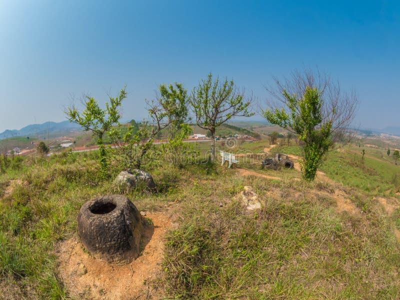 Storia antica e recente, parallelamente Plain dei vasi Xiangk immagine stock libera da diritti