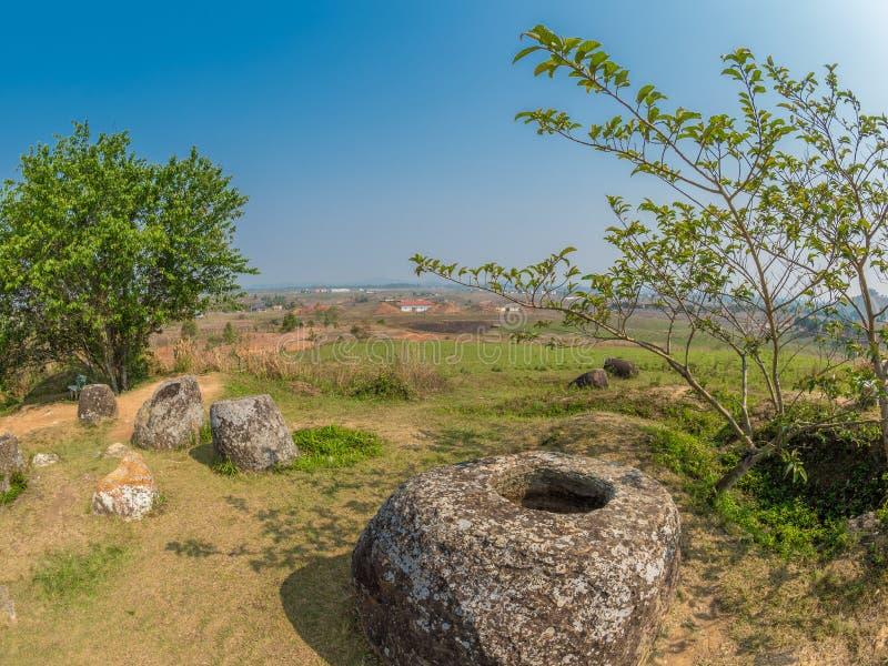Storia antica e recente, parallelamente Plain dei vasi Xiangk immagini stock libere da diritti