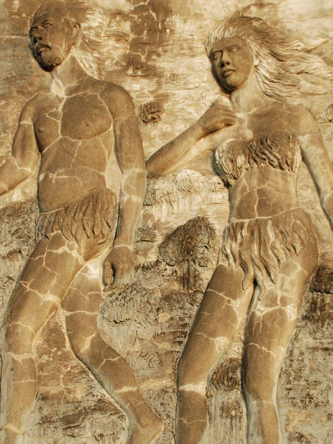 Storia di Adam e di Eve immagini stock libere da diritti