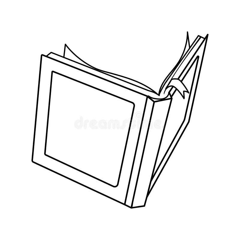 Storia di favola del libro aperto di vettore royalty illustrazione gratis