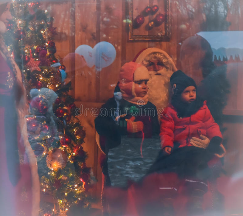 Storia di Natale fotografie stock