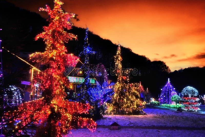 Storia di Natale in Croazia immagini stock
