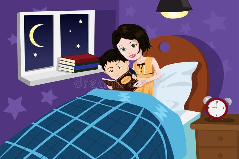 Storia di ora di andare a letto royalty illustrazione gratis