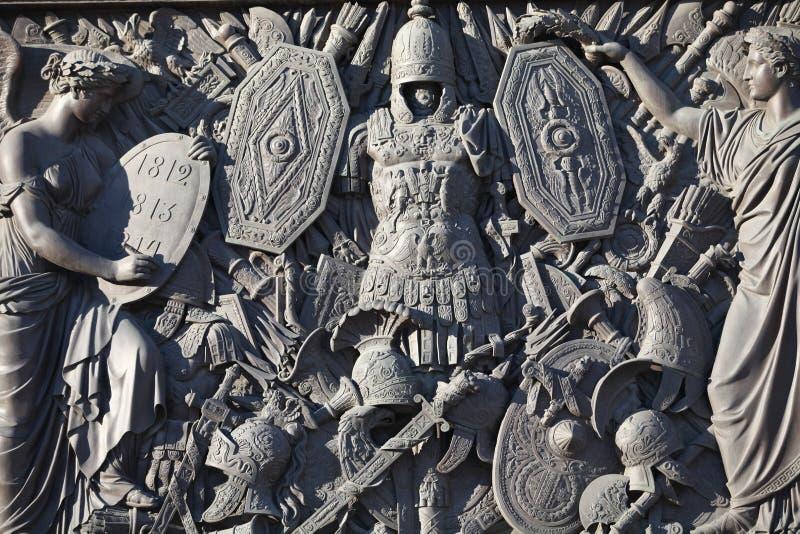 Storia e gloria bronzee storiche di bassorilievo immagine stock