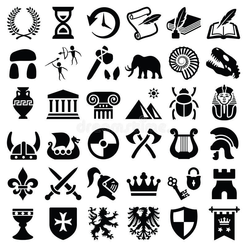 Storia ed icona della cultura royalty illustrazione gratis