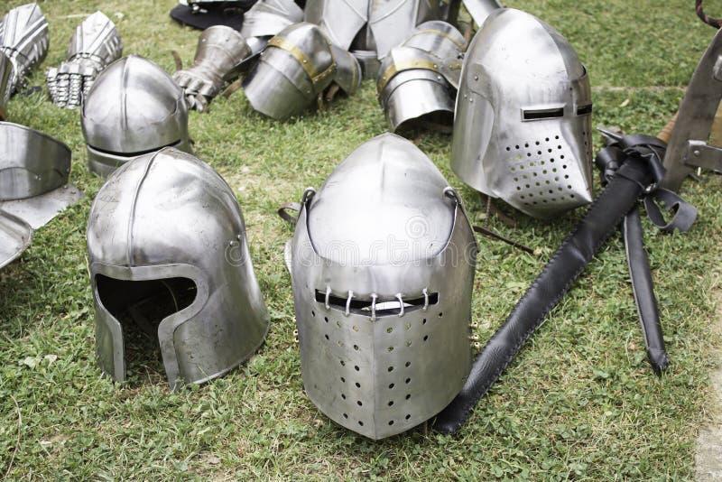 Storia medievale d'acciaio fotografie stock