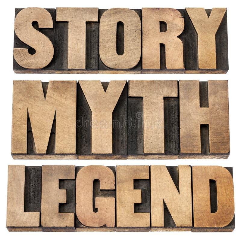 Storia, mito, legenda fotografia stock