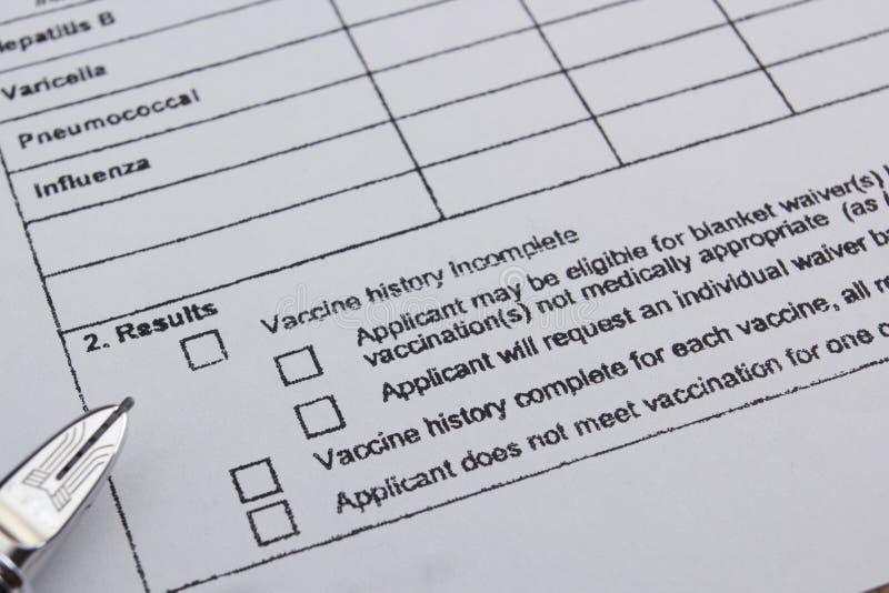 Storia vaccino immagine stock