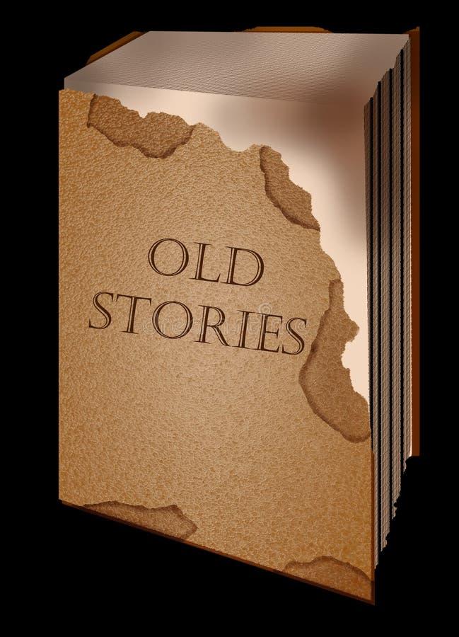 Storie del vecchio libro illustrazione di stock