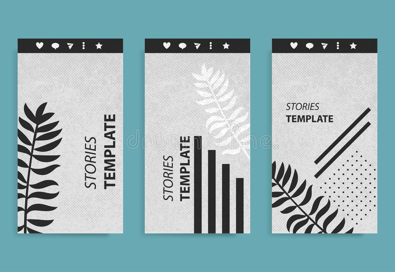 Stories template for mobile phone social background. royalty free stock photography