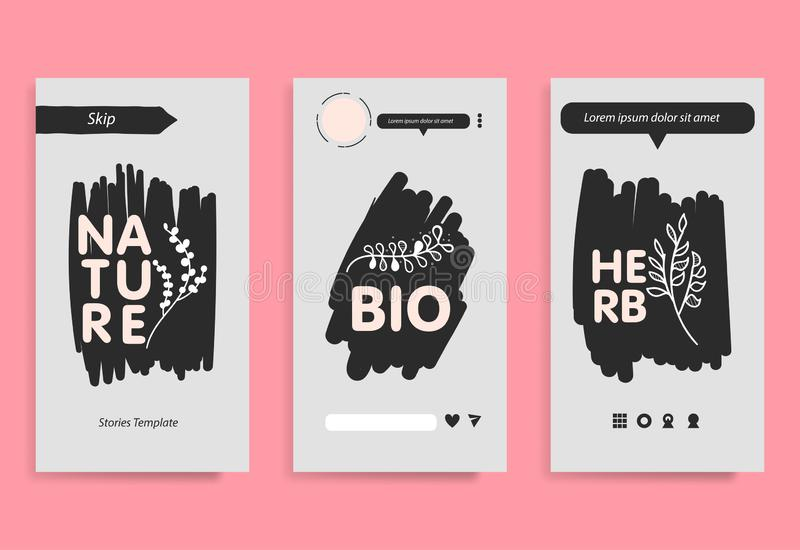 Stories template for mobile phone social background. stock photos