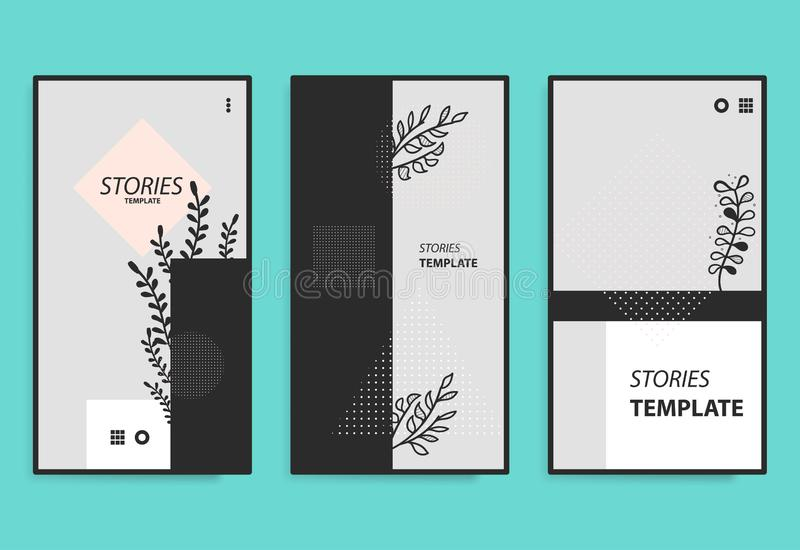 Stories template for mobile phone social background. stock photo