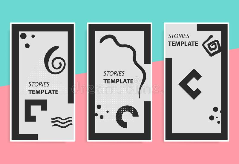 Stories template for mobile phone social background. royalty free stock photos