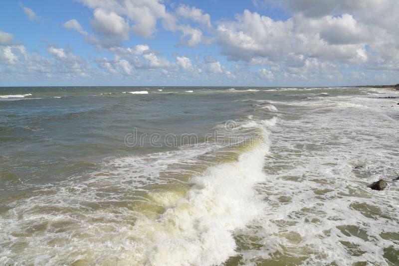 Storing in de Oostzee royalty-vrije stock foto's