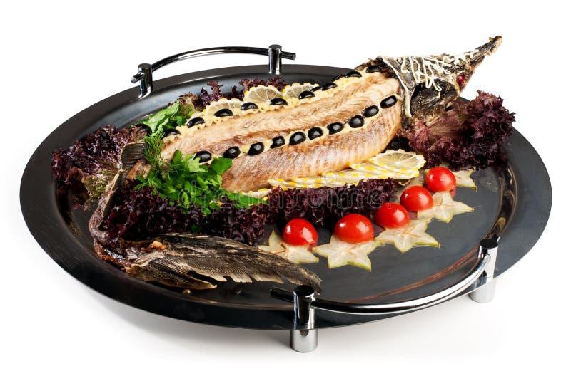 Storione cucinato interamente fotografie stock libere da diritti