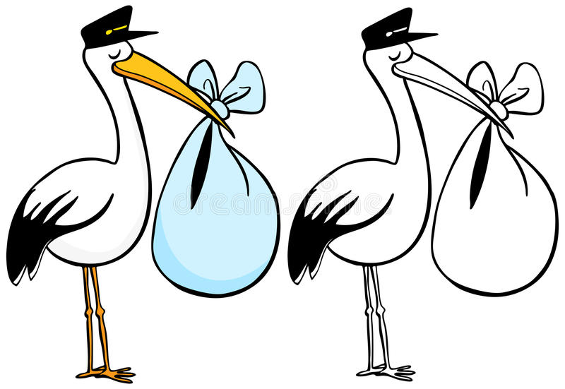 Stork stock illustration