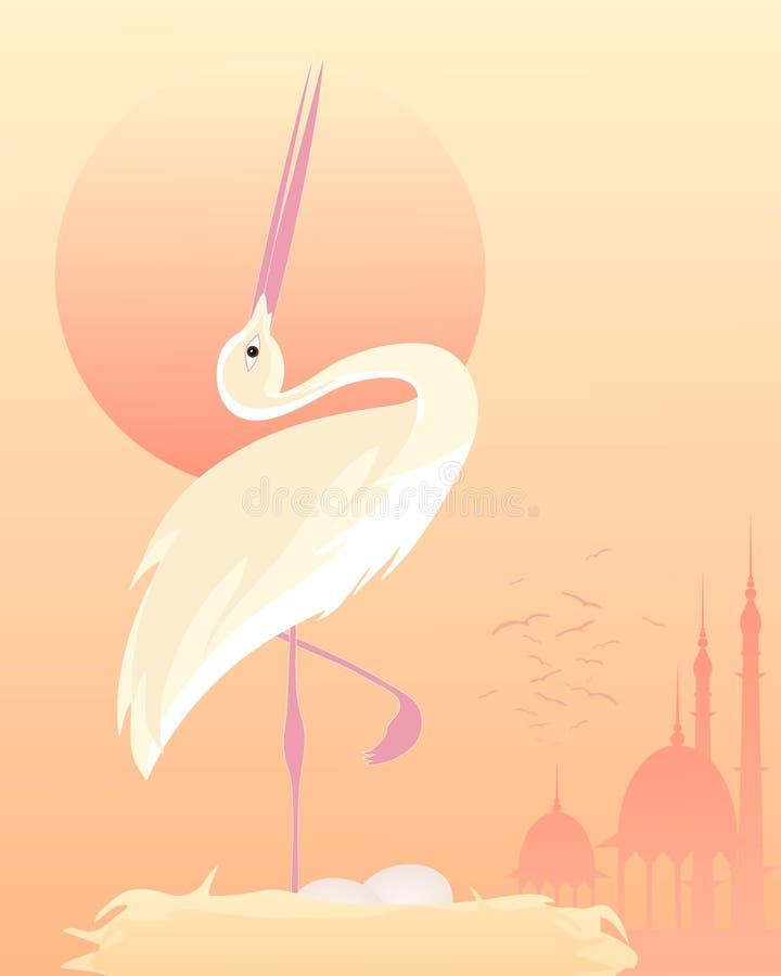 Download Stork stock vector. Image of stork, illustration, animal - 29598101