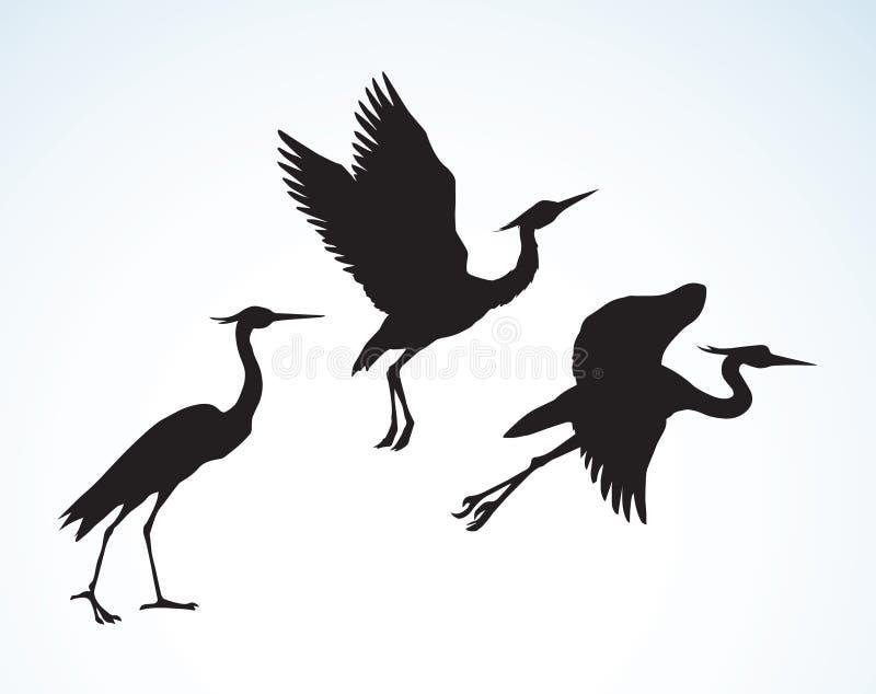 stork bakgrund som tecknar den blom- gräsvektorn stock illustrationer