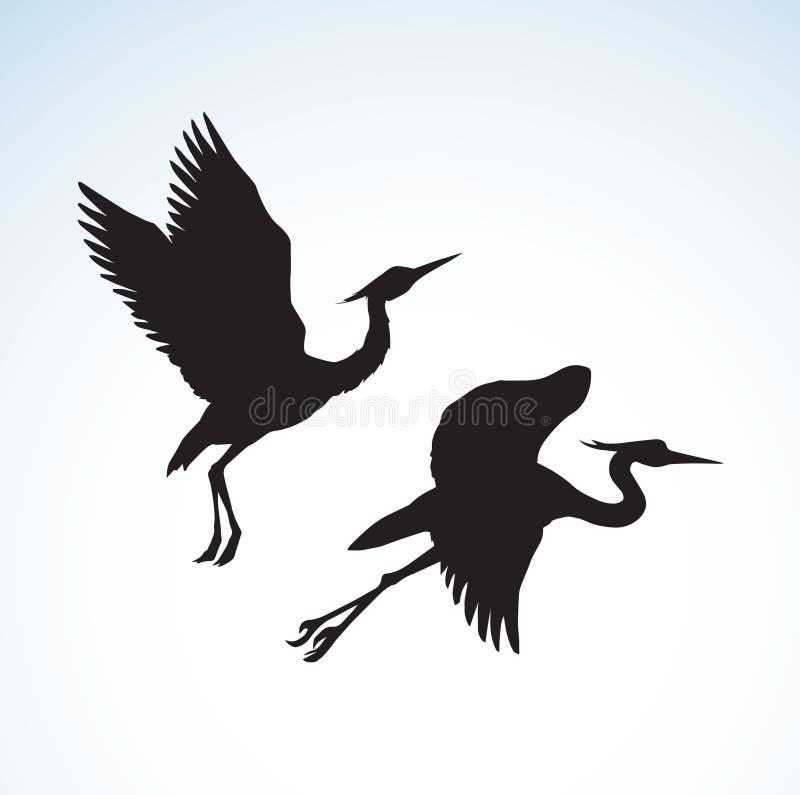 stork bakgrund som tecknar den blom- gräsvektorn royaltyfri illustrationer
