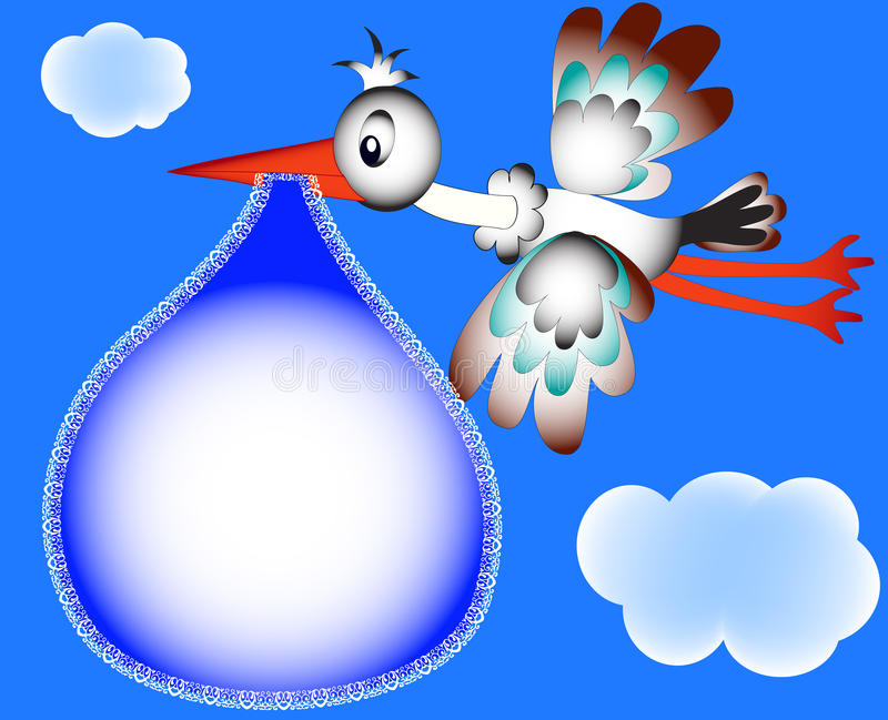 stork för foto för oklarhetsrambarnkammare vektor illustrationer