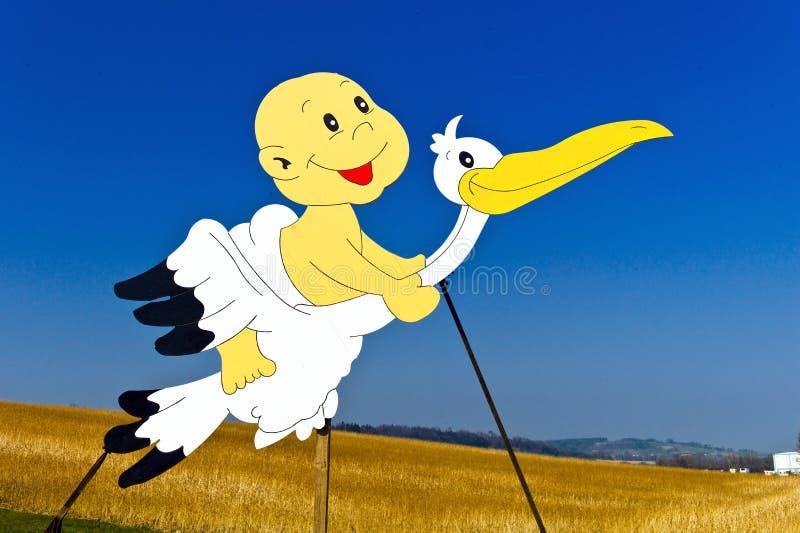 Download Stork with newborn stock image. Image of babies, children - 27340553