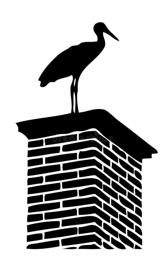 Free Stork On Chimney Stock Photo - 40735840