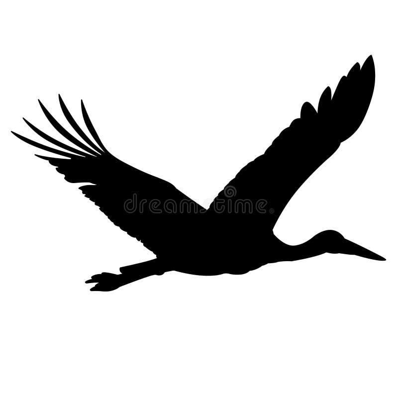 Free Stork Silhouette. Stock Image - 8078561