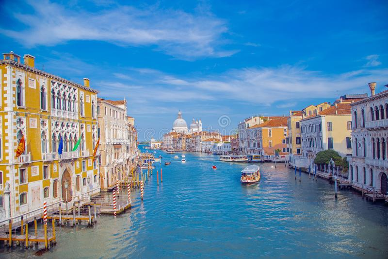 Storkanalen i Venedig royaltyfri foto